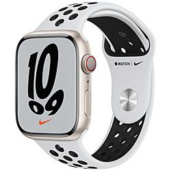 Apple(アップル) Apple Watch Nike Series 7(GPS+Cellularモデル)- 45mmスターライトアルミニウムケースとピュアプラチナム/ブラックNikeスポーツバンド - レギュラー   MKL43J/A ※発売日以降お届け