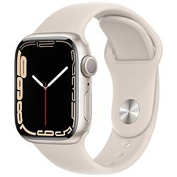 Apple(アップル) Apple Watch Series 7(GPSモデル)- 41mmスターライトアルミニウムケースとスターライトスポーツバンド - レギュラー   MKMY3J/A ※発売日以降お届け