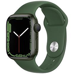Apple(アップル) Apple Watch Series 7(GPSモデル)- 41mmグリーンアルミニウムケースとクローバースポーツバンド - レギュラー   MKN03J/A ※発売日以降お届け