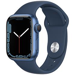 Apple(アップル) Apple Watch Series 7(GPSモデル)- 41mmブルーアルミニウムケースとアビスブルースポーツバンド - レギュラー   MKN13J/A ※発売日以降お届け
