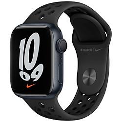 Apple(アップル) Apple Watch Nike Series 7(GPSモデル)- 41mmミッドナイトアルミニウムケースとアンスラサイト/ブラックNikeスポーツバンド - レギュラー   MKN43J/A ※発売日以降お届け