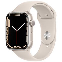 Apple(アップル) Apple Watch Series 7(GPSモデル)- 45mmスターライトアルミニウムケースとスターライトスポーツバンド - レギュラー   MKN63J/A ※発売日以降お届け