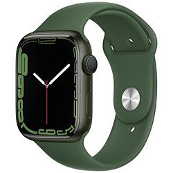Apple(アップル) Apple Watch Series 7(GPSモデル)- 45mmグリーンアルミニウムケースとクローバースポーツバンド - レギュラー   MKN73J/A ※発売日以降お届け