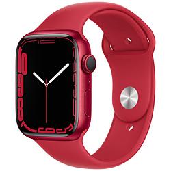 Apple(アップル) Apple Watch Series 7(GPSモデル)- 45mm(PRODUCT)REDアルミニウムケースと(PRODUCT)REDスポーツバンド - レギュラー   MKN93J/A ※発売日以降お届け