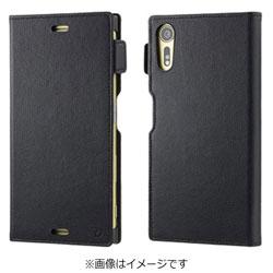 Xperia XZs / Xperia XZ用 手帳型ケース RILEGA Leather Flip ブラック SoftBank SELECTION SB-SA58-LCDI/BK