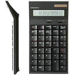 デスクトップタイプ電卓 LC-204-BK ブラック [12桁]