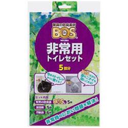 クリロン化成 BOS非常用トイレセット5回分 BOSヒジョウヨウトイレセット