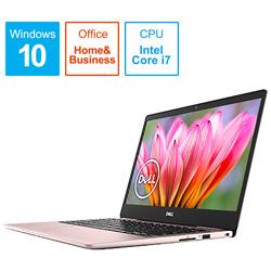 MI73-8WHBP ノートパソコン Inspiron 13 7000 7380 ピンクシャンパン [13.3型 /intel Core i7 /SSD:512GB /メモリ:16GB /2018
