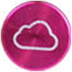 Apple用 アルミホームボタン クラウドシリーズ (ピンク) IPA04-12D051