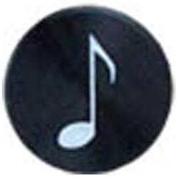 Apple用 アルミホームボタン 音符シリーズ (ブラック) IPA09-13A218