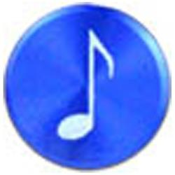 Apple用 アルミホームボタン 音符シリーズ (ダークブルー) IPA09-13A220