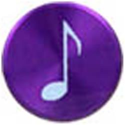 Apple用 アルミホームボタン 音符シリーズ (パープル) IPA09-13A221