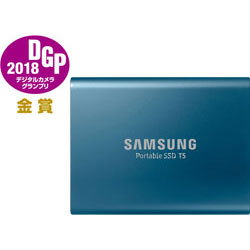 SAMSUNG(サムスン) 【在庫限り】 PortableSSD T5シリーズ 250GB/MUPA250BIT/濃紺