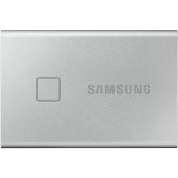 SAMSUNG(サムスン) MU-PC1T0S/IT 外付けSSD USB-C+USB-A接続 T7 Touch シルバー [ポータブル型 /1TB]