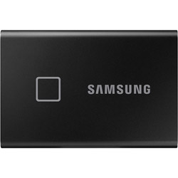 SAMSUNG(サムスン) MU-PC1T0K/IT 外付けSSD USB-C+USB-A接続 T7 Touch ブラック [ポータブル型 /1TB]