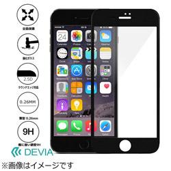 iPhone 7用 Full Screen Tempered Glass 0.26mm ブラック Devia BLDVSP7002BK