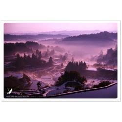 日本の絶景ポストカード 『秋』[生産完了品 在庫限り] PAS-POL 星峠の棚田/新潟 JPC-30