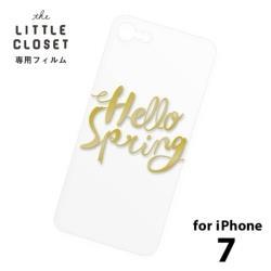LITTLE CLOSET用[iPhone 7用] 着せ替えフィルム クリア Hello spring GLF-06