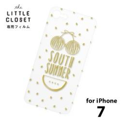 LITTLE CLOSET用[iPhone 7用] 着せ替えフィルム クリア SOUTH SUMMER GLF-07