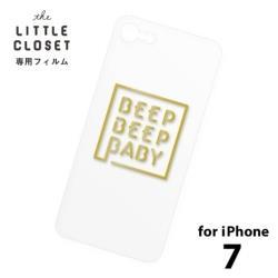 LITTLE CLOSET用[iPhone 7用] 着せ替えフィルム クリア BEEP BEEP BABY GLF-09