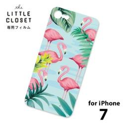 LITTLE CLOSET用[iPhone 7用] 着せ替えフィルム ノーマル Flamingoes GLF-21