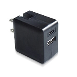 超コンパクト Power Delivery対応高速充電アダプター LAC-RACPD-BK ブラック