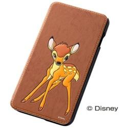 iPhone 6 Plus用 ポップアップ・ブックカバータイプ・合皮レザージャケット ディズニー・バンビ RT-DP8J/BB