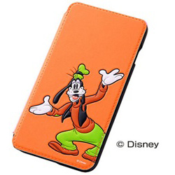 iPhone 6 Plus用 ポップアップ・ブックカバータイプ・合皮レザージャケット ディズニー・グーフィー RT-DP8J/GF