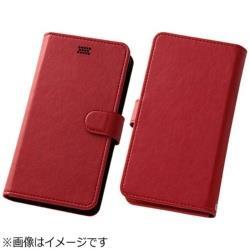 スマートフォン用[幅 73mm] Multi Case 手帳型汎用ケース レッド RT-SPF/R