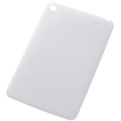 iPad mini 4用 シリコンケース ホワイト 半透明 RT-PM3C1/W