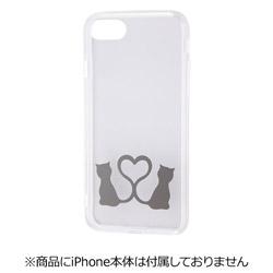 iPhone 7用 ハイブリッドケース デザイン ラブラブキャット RT-P12CC6/LC