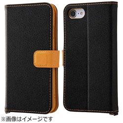 iPhone 7用 手帳型ケース 2トーンカラー ブラック/オレンジ RT-P12ELC2/BOR