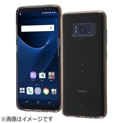 Galaxy S8用 TPUケース コネクタキャップ付き ブラック RT-GS8TC10/BM