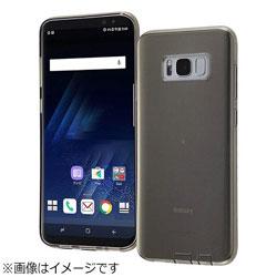 Galaxy S8+用 TPUケース コネクタキャップ付き ブラック RT-GS8PTC10/BM