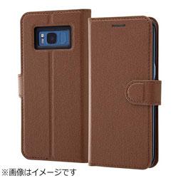 Galaxy S8用 手帳型ケース シンプル マグネット ダークブラウン RT-GS8ELC1/DK