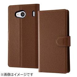 Qua phone QX / DIGNO V用 手帳型ケース シンプル マグネット ダークブラウン RT-CR06ELC1/DK