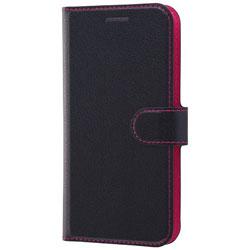 iPhone X用 手帳型ケース シンプル マグネット ブラック/ピンク RTP16ELC1BP