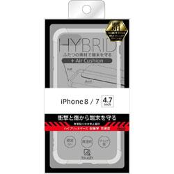 iPhone 8/7 ハイブリッドケース 耐衝撃 高硬度/クリア BKS-P14CC8/CM 【ビックカメラグループオリジナル】