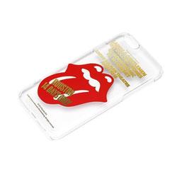 iPhone 6用 ハードケース ローリングストーンズ クリア・ゴールド箔押し PG-UCS151RS