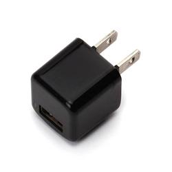 スマートフォン対応[USB給電] AC - USB充電器 (1ポート・ブラック) PG-UAC10A01BK
