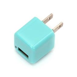 スマートフォン対応[USB給電] AC - USB充電器 (1ポート・ブルー) PG-UAC10A03BL