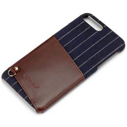 iPhone 7 Plus用 カードポケット付き ハードケース ネイビー PG-16LCA02NV
