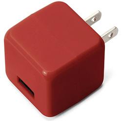 スマホ用USB充電コンセントアダプタ 2.1A レッド PG-UAC21A03RD [1ポート]