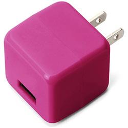 スマホ用USB充電コンセントアダプタ 2.1A ピンク PG-UAC21A04PK [1ポート]
