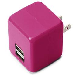 タブレット/スマートフォン対応[USB給電] AC - USB充電器 2.1A (2ポート・ピンク) PG-UAC21A09PK