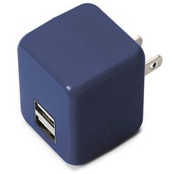 タブレット/スマートフォン対応[USB給電] AC - USB充電器 2.1A (2ポート・ブルー) PG-UAC21A10BL