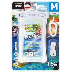 スマートフォン用[幅 73mm/5インチ] 水に浮くウォータープルーフバッグ Mサイズ クリア PG-WPBL02CL