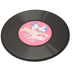 マウスパッド[φ200x5mm] 丸型 PG-DMP355PK ミッキーマウス/ピンク