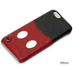 iPhone 6s/6用 PUレザーケース ポケット付き ミッキーマウス PG-DCS117MKY