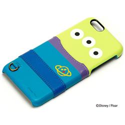 iPhone 6s/6用 PUレザーケース ポケット付き エイリアン PG-DCS120LGM